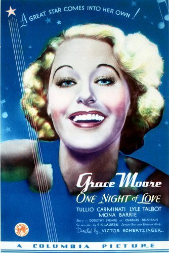 onenightofloveposter 1934: The Year Oscar Scored
